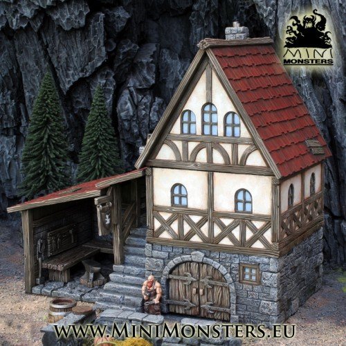 Medieval Blacksmith House Mini Monsters